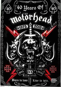 Motörhead I want to tattoo This awesome shi Heavy Metal Bands, Heavy Metal Rock, Heavy Metal Music, Rock Posters, Band Posters, Concert Posters, Rock And Roll, Pop Rock, Skull Art