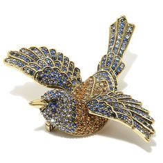 "Shop Heidi Daus ""Sparkling Swallow"" Pavé Crystal Pin, read customer reviews and more at HSN.com.  334-581    $89.95"
