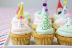 DIY Mini Party Hat Cake Toppers via Oh Happy Day