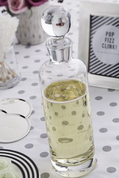 Larabee dot decanter by @kate spade new york for the champagne at a kate spade themed bridal shower