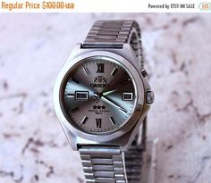 ON SALE Vintage watch Orient  Silver watch Japan