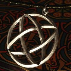 Celtic Knot Woven Rings Sterling Silver Pendant by CelticEternity, $23.00