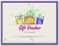 Gift Voucher Template Free Download Christmas Gift Certificate Templates  Printables  Pinterest  Gift .