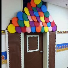 Gingerbread door I should do this! Make them all duck their heads or get attacked by the shingles! LOL