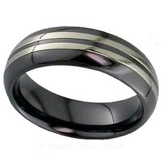 Geti D Shape Striped Zirconium Ring