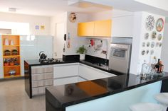 My kitchen. Bright yellow+other color