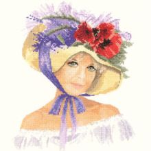 From John Clayton's Elegance series, the delightful Megan is wearing a most attractive bonnet! Cross Stitch Fabric, Cross Stitch Charts, Cross Stitch Patterns, Cross Stitches, Black Sheep Wool, Heritage Crafts, John Clayton, Cross Stitch Angels, Back Stitch