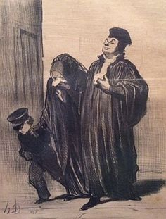 After Honore Daumier 1808-1879 (French) Justice, lot includes 4 works print