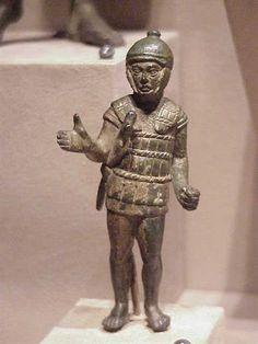 Bronze Sculpture of Etruscan soldier 3rd century BCE Bronze