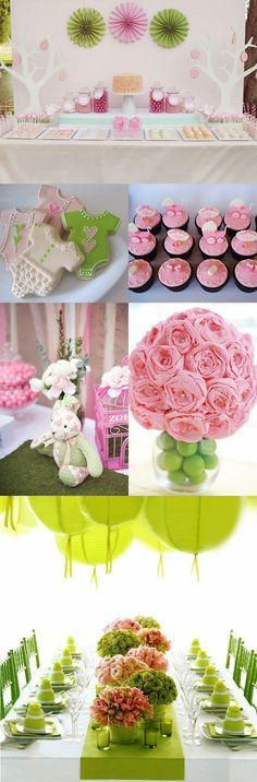 Pink and green theme