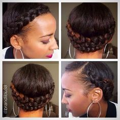"""hair2mesmerize: by @brandilou88 """"Cute and simple summer protective style. Completed in less than 5 min."""" #Hair2mesmerize #naturalhair #na..."""