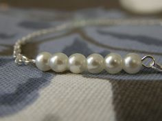 #Silver #Pearl #Bracelet by #AbidingLove on Etsy $12.00