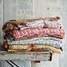 Toast's cool, colourful bedspreads are the perfect spring update for your bedroom.