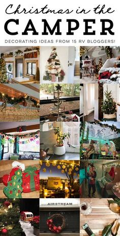 RV Christmas decor series featuring photos of 15 campers and motorhomes all decked out for the holidays. Rv Camping Checklist, Camping Hacks, Camping Ideas, Camping Essentials, Outdoor Camping, Rv Hacks, Camping Gadgets, Decorating Your Rv, Holiday Decorating