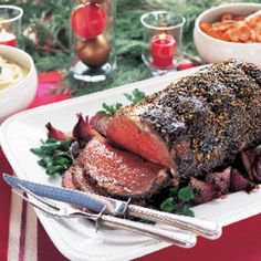 Black Pepper-Crusted Standing Rib Roast au Jus recipe | Epicurious.com