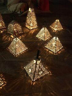 More Moroccan style lanterns. Delicious light texture.