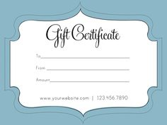 Free printable personalized gift certificates. | Helpful | Pinterest ...