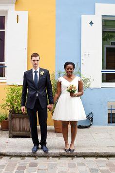 Mariage urbain et coloré de Joy et Nicolas à Paris - Robe de la mariée: Etsy - Costume du marié: Giorgio Armani - Crédit Photo: Pimprunelle Photographe - La Fiancée du Panda blog Mariage et Lifestyle