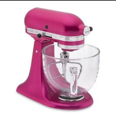 Breast cancer awareness Raspberry Ice Kitchen Aid. Saw this today in Williams Sonoma and it's gawwwwgeous!!! Makes my chrome one look boring :(