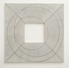 "Robert Mangold [USA] (b 1937) ~ ""Framed Square with Open Center II"", 2013. Acrylic and black pencil on canvas."
