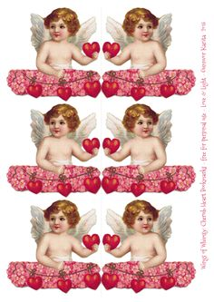Wings of Whimsy: Cherub Love Bookmarks - free for personal use