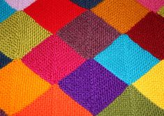 Another one for the scrap yarns!  Garter Stitch Mitred Square Pattern pattern by Lynné Groenewald