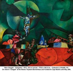 "Marc Chagall - ""Golgotha"", 1912 by artimageslibrary, via Flickr"