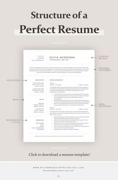 Minimalist resume examples to make your resume professional. All of these visual resume examples come with a matching cover letter and reference page. Template Cv, Modern Resume Template, Resume Templates, Resume Template Download, Business Resume Template, Cover Letter Template, Basic Resume Examples, Professional Resume Examples, Professional Tools