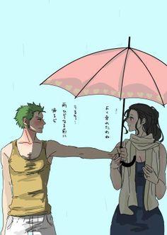 Zoro being a gentleman. Zoro x Robin