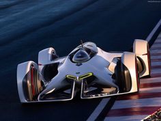 Chevrolet Chaparral 2X Vision for Gran Turismo 6 breaking cover, designed by Charles Lefranc of GM Advanced Design. (via Daniel Simon)  More car design here.