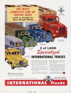 International Harvester truck - 1947 International Trucks ad