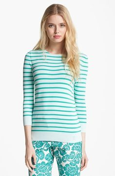 Tory Burch 'Poling' Stripe Sweater available at #Nordstrom