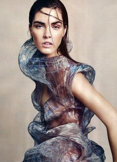 'Goddess Complex': Hilary Rhoda by Paolo Kudacki for Harper's Bazaar UK, July 2010  in Alexander McQueen Spring Summer 2010