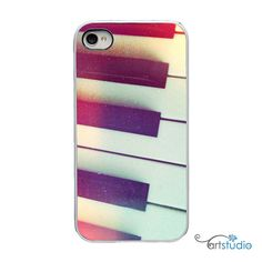 Piano Keys Music Black White iPhone Case  IPhone 4 by artstudio54, $20.00