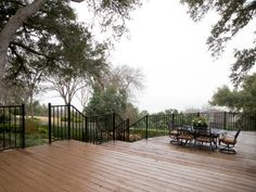 For the Sanders, the deciding factor for buying the home was the view. Jeff and Michelle were awed by the home's close proximity and arresting view of the lake. The refinished deck and custom-made French country railing gives the family lots of space to enjoy the view.