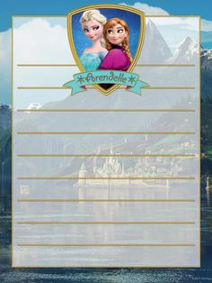 "Arendelle - Anna & Elsa - Frozen - Project Life Journal Card - Scrapbooking ~~~~~~~~~ Size: 3x4"" @ 300 dpi. This card is **Personal use only - NOT for sale/resale** Frozen/clipart/background image belong to Disney. Shield and banner from www.clker.com . Font is GiddyupStd www.fontzone.net/font-details/giddyupstd *** Click through to photobucket for more versions of this card ***"