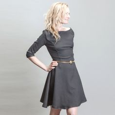 Little Black Skater Cocktail Dress with Full by BritishSteele