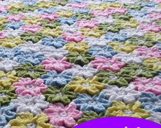 Crochet pattern circle afghan  With this pattern you can crochet this wonderful baby blanket. First crochet the squares, join them as you go in the