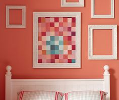 #WhereIsYoungAmerica #PrettyInPink DIY Paint Swatch Art Project