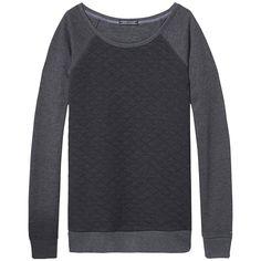 Schönes Loungewear-Basic: Sammee Langarmshirt mit Rundhalsausschnitt und Wabenoptik. Das Logostitching befindet sich am Ärmel.50% Baumwolle, 50% Polyester...