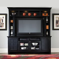 Liberty Furniture New Generation Entertainment Center in Rubbed Black
