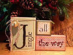 Jingle all the way christmas blocks