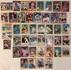 HUGE Lot of 40 Topps Donruss Fleer 1980s Baseball Cards - Rookies, HOFers, All-Stars - GIN BONUS!