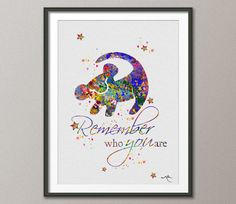 The Lion King Simba Quote 4 Watercolor Art Print by CocoMilla