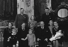 theroyalwatcher:  Danish Royal Family in 1946 Standing: Prince Knut, Princess Elisabeth, and Crown Prince Frederik Sitting: Princess Caroline-Mathilde, Prince Christian, Queen Alexandrine, Princess Benedikte, Prince Ingolf, King Christian X, Princess Margrethe, Crown Princess Ingrid, and Princess Anne-Marie King Christian X passed away just a few months later, in April 1947 and Frederik became King Frederik IX.