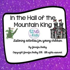 In the Hall of the Mountain King: Listening activities for young children Music Lesson Plans, Music Lessons, Piano Lessons, Movement Activities, Music Activities, Music Education, Health Education, Physical Education, Music Classroom