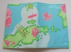 cute! lilly pulitzer passport cover - love the pattern! on etsy