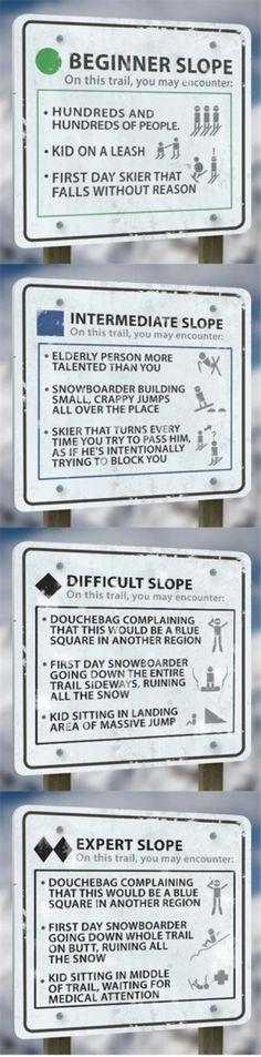 Ski level explained.. haha @Michelle Flynn Flynn Jenkins