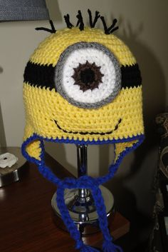 A personal favorite from my Etsy shop https://www.etsy.com/listing/247808893/minion-hat
