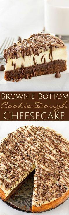 Brownie bottom cookie dough cheesecake recipe